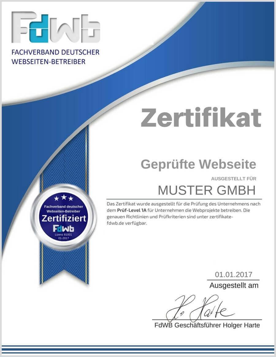 Zertifikate Beschreibung Muster – FdWB Fachverband deutscher ...