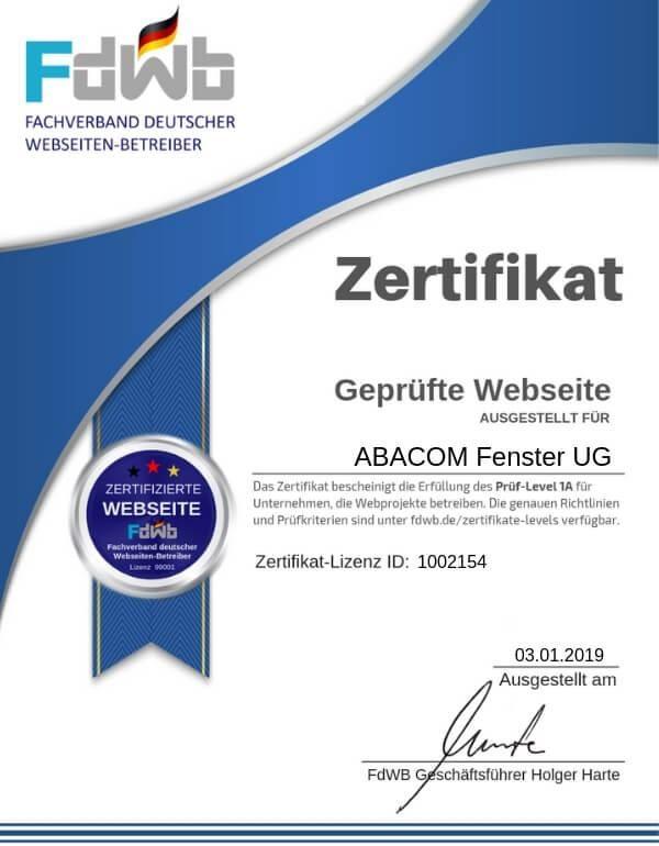 FdWB-Kontroll-Zertifikat-1002154_ABACOM Fenster UG